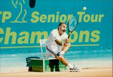 Tennis players Mansour Bahrami (Iran)