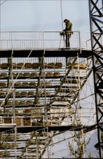Ongoing armor building for the 1992 Winter Olympics in Albertville 1992