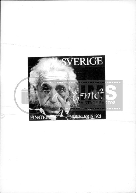 Portrait image of the Nobel Prize winner in Physics 1921, Albert Einstein. He was awarded the Nobel Prize for his discovery of the law of the photoelectric effect.