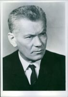 Portrait of the Chairman of the National Assembly, Josef Smrkovsky, Presidium member of the Central Committeof the Communist Party of Czechoslovakia. 1968