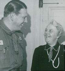 Scout Movement Scout Manager Gerda Bäckström with Dance Gospel Dealer Paul Meyer