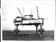 Radar tower which disappeared in the Atlantic