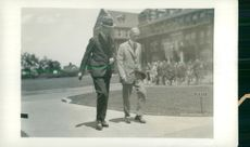 Swedish Crown Prince Couple Gustaf VI Adolf and Louise Mountbatten's Trip to the USA and Japan in 1926. Crown Prince at Highland Park Plant 1926.