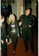 David Hasselhoff and Pamela Bach arrive at a Planet Hollywood event
