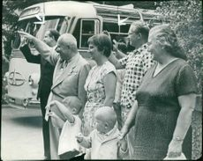 Nikita Khrushchev with family.
