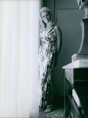 """Pam Peterson striking a pose, one of the ravishing beauties from the film """"Where It's At""""."""