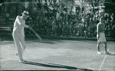 King Gustaf V on the tennis court in Djursholm