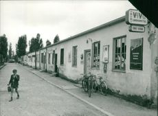Germany: Dachau's Shopping centre in the 60's.