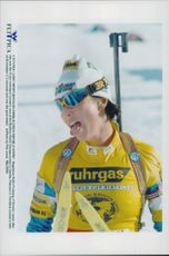 It was a tired Magdalena Forsberg who took home victory at 15 km individual start.