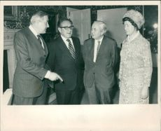 Harold Wilson with jim callaghan and his wife.