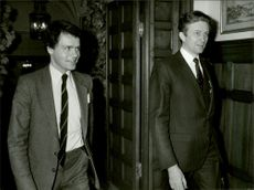 Chief negotiators in the dispute between Air France and SAS: Ulf Dinkelspiel and Jean-Claude Paye for a lunch at the French Embassy