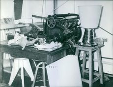 A machine lying on the table.