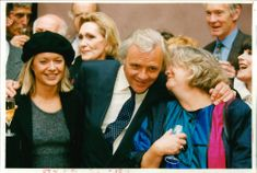 Actor Anthony Hopkins with Mariella Frostrup and Judy Cornwell