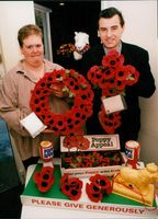 Royal British Legion:  Poppy appeal shop in St. Andrew