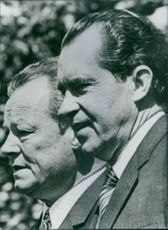 Portrait of Willy Brant with President Nixon, 1970.
