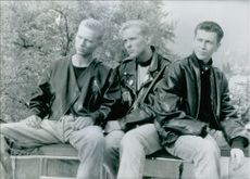 Member of Bros, British pop group. OPS the hottest group on the British pop scene in 1988 Bros, who topped the charts with numbers such as I Owe You Nothing; they are, from left to right, brothers Luke and Matt and the drummer Craig 1989