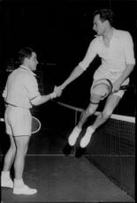 Tennis player Torsten Johansson at the Scandinavian tennis championship - 24 January 1949