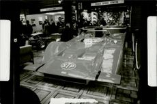 Racer cars March 707 in Can-Am Cup displayed in an exhibit in B Westland