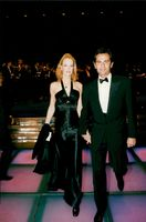 Supermodel Karen Mulder with the boyfriend Jean Yves le Fur