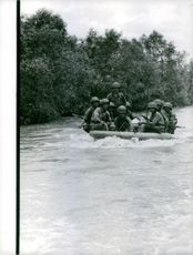Soldiers across the river.