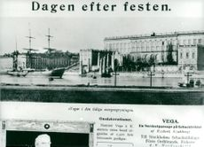 Contemporary newspaper clippings about Adolf Nordenskiöld's departure with Vega