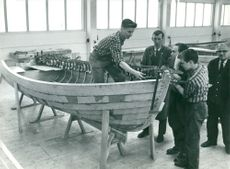 Boat building on Storebro Bruk
