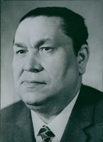Portrait of Soviet politician Zia N. Nuriev.