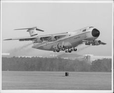 The world's largest aircraft Lockhead C-5A.