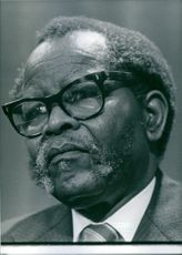 South African dissident, Oliver Tambo, 1986.