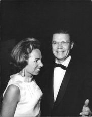 "Robert Francis ""Bobby"" Kennedy's wife standing with a man."