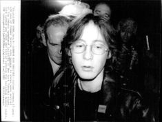 Julian Lennon arrives in New York after the murder of his father John Lennon