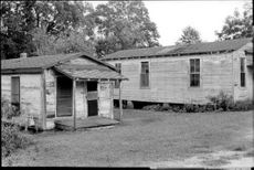 Ruffy barracks that make up the homes of some McComb members