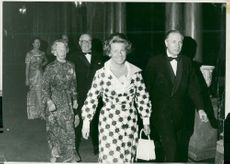 Superintendent Knut von Horn with wife and Colonel Per Tamm with Mrs arrives at dinner in Sibylla's representation floor