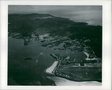 The Naval Base looking East Guantanmo bay.