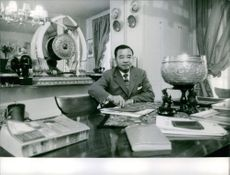 A photograph of Royalty from  Kingdom of Laos (Rulling time- 1904-1975 )