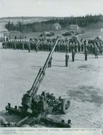 Sundsvall Air Defence Regiment inauguration.