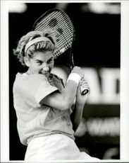 Monica Seles in action