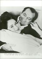 """The actors Meryl Streep and Jack Nicholson in the movie """"In Lust and Need"""""""
