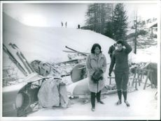 Catherine Baron and Michael of England during winter vacation.