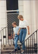 Princess Diana together with Prince William