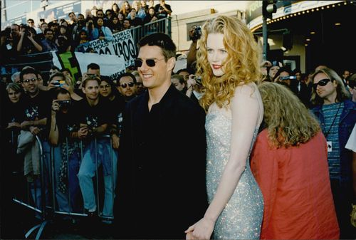 """Tom Cruise and Nicole Kidman at the premiere of """"Batman Forever""""."""