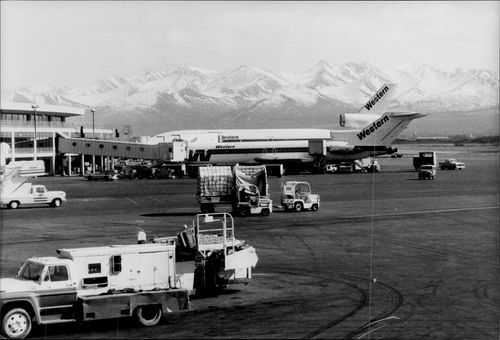 The airport of Anchorna in Alaska.