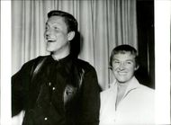 """TV star Dick van Dyke and his wife Marjorie at the """"Share"""" charity party at """"The Civic Auditorium"""" in Santa Monica, California."""