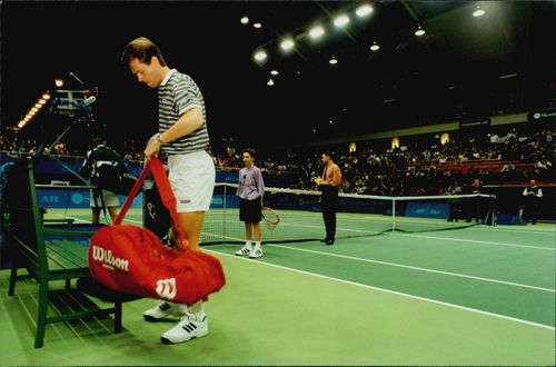 Stefan Edberg after the loss against Niklas Kulti.