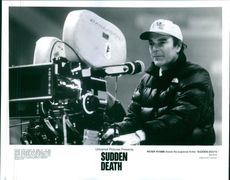 "Peter Hyams directs the suspense thriller ""Sudden Death."""