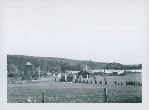 Ludvika. The train to the mining field