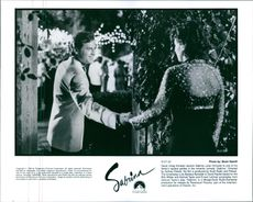 Still from the film Sabrina with Greg Kinnear and Julia Ormond.