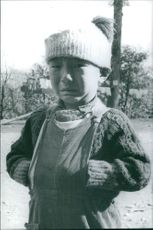 A child crying from Tibet, 1968.