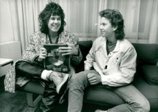 Gary Moore with 13-year-old Björn Lekselius