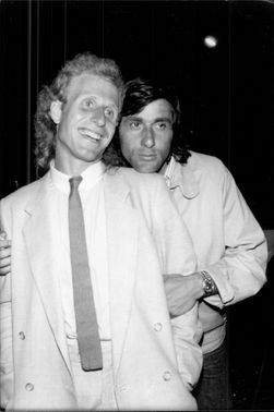 The tennis players Vitas Gerulaitis and Ilie Nastase celebrate their win in the French Open on a night out in Paris
